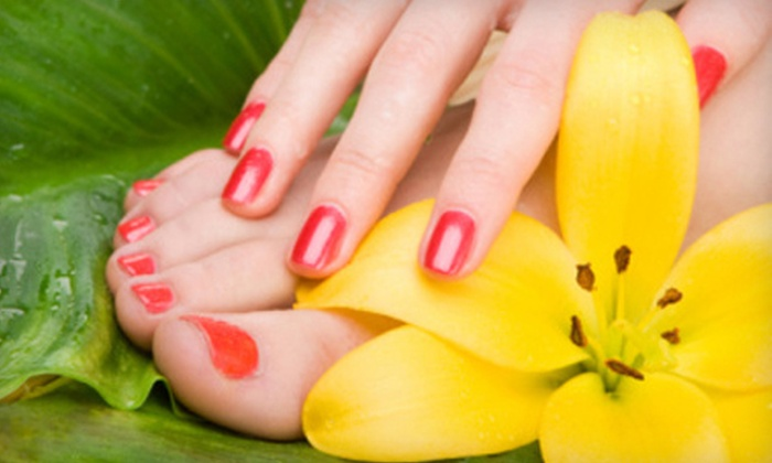 Seymour Nail & Spa - Maplewood: One or Two Deluxe Mani-Pedis with Paraffin Treatments at Seymour Nail & Spa (Up to 58% Off)