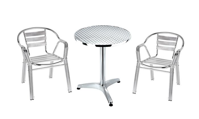 Tavoli E Sedie Da Esterno In Alluminio.Set Giardino Con Tavolo E Sedie Groupon Goods