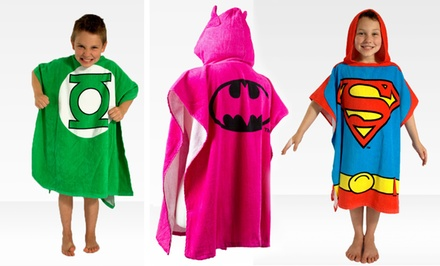 Children's Cartoon Hooded Bath Ponchos. Multiple Styles Available.