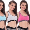 Women's Sports Bras with Removable Pads (4-Pack)