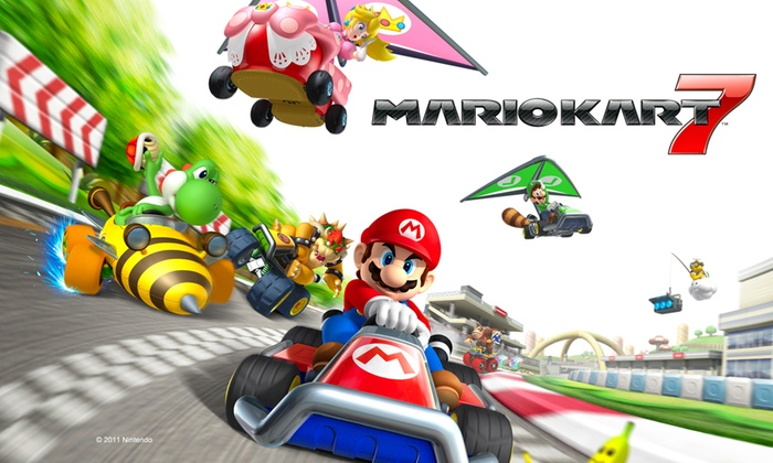 mario kart 7 for nintendo 3ds groupon goods. Black Bedroom Furniture Sets. Home Design Ideas
