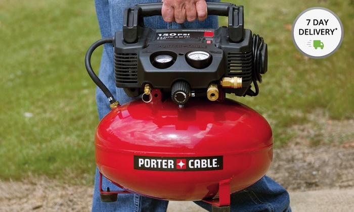 Porter-Cable 3.5G 135 PSI Pancake Air Compressor: Porter-Cable 3.5G 135 PSI Pancake Air Compressor(C2003R) (Factory Refurbished). Free Returns.