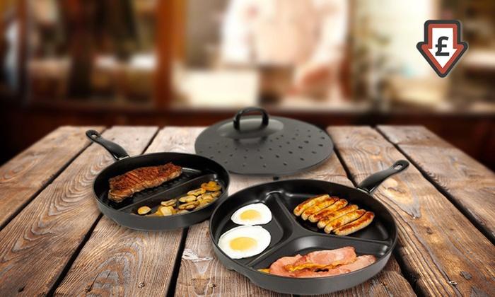 Non Stick Divider Frying Pan Set Groupon