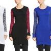 Blue Heart Marled Knit Tunic Sweater