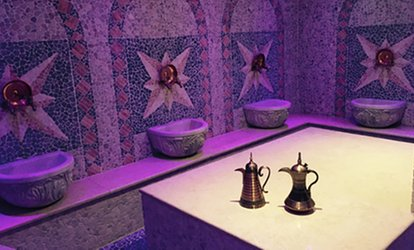 image for Moroccan Bath Spa Package for One or Two, or for Three with Jacuzzi Access at Hammam Spa (Up to 65% Off)