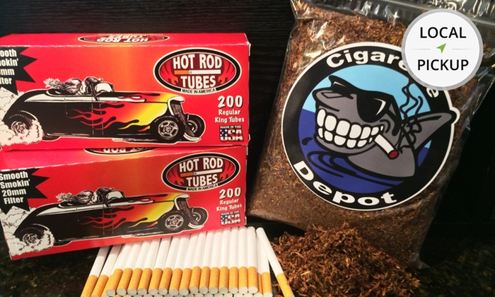 Cigarette Depot - West Melbourne: 200-Count Carton of Hot Rod Cigarette Tubes and 8 Oz. of Kentucky Select Tobacco. Pick Up in Store at Cigarette Depot.