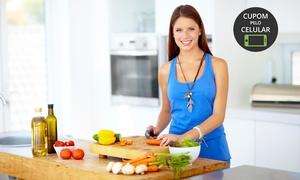 Cozinha Vitrine: Cozinha Vitrine – Cidade Nova: curso de cozinha fit funcional para 1 ou 2 pessoas