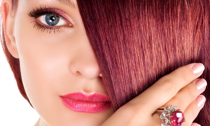 Jennifer Andre Salon - Airpark: Haircut, Style, and Scalp Massage with KeraTriplex Treatment or Base Color at Jennifer Andre Salon (Up to 58% Off)