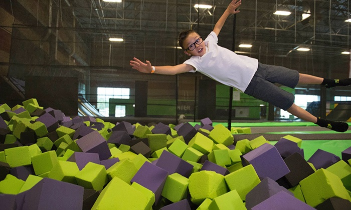 Get Air - Get Air - Westchester: Two or Four 60-Minute Jump Passes, or a Two-Hour Jump Party with Pizza for 10 at Get Air (Up to 46% Off)