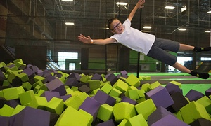 Get Air: Jump Passes or Private Trampoline Party at Get Air (Up to 45% Off). Four Options Available.