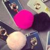 Faux-Fur Pouf Ball Case for iPhone 6 Plus/6s Plus
