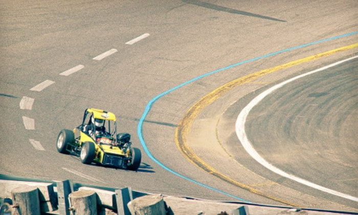Green Flag Driving Experience - Wall: $24 for Five Laps in Winged TQ Midget Racecar at Green Flag Driving Experience ($49.99 Value)
