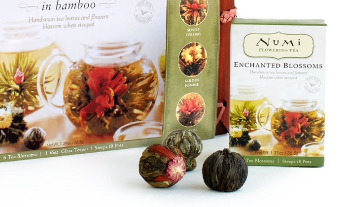 Numi Organic Flowering Tea Set: $23.99 for a Numi Organic Flowering Tea Set in Bamboo Case ($39.99 List Price). Free Shipping.