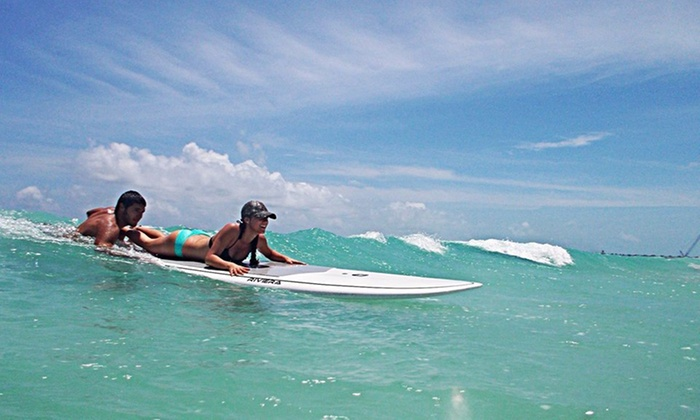 Miami Surf & SUP - Nikki Beach: Up to 46% Off surf & paddle-board lessons at Miami Surf & SUP