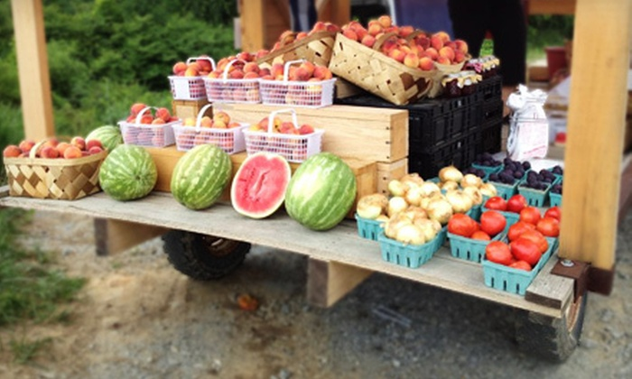 The Farm - Fruitland: $10 for $20 Worth of Pick-Your-Own Produce and a Bag of Popcorn at The Farm in Hendersonville ($21.99 Total Value)