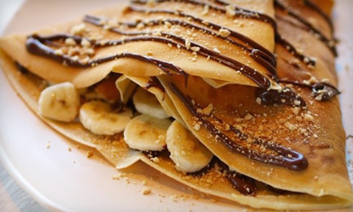 De La Crepe  - Mississauga: Two Savoury Crepes and One Dessert Crepe, or $15 for $30 Worth of Crepes at De La Crepe in Mississauga