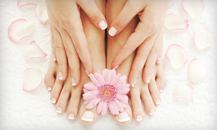 Shear Style - Haisley: Regular or Shellac Manicures with Mini Pedicures or Three Shellac Manicures at Shear Style (Up to 57% Off)
