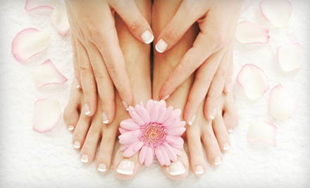 One-Hour Regular Manicure and Mini Pedicure - Shear Style in Ann Arbor