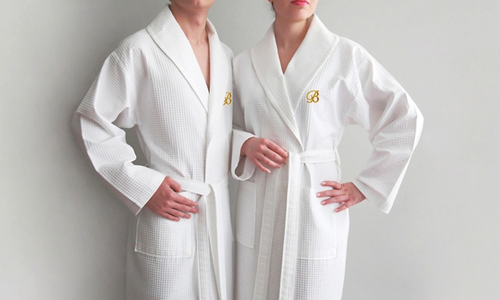 Luxury Hotel & Spa Collection Bathrobe with Optional Monogram: Luxury Hotel & Spa Collection 100% Turkish-Cotton Bathrobe (Up to 73% Off). Monogrammed and Plain Styles. Free Shipping.