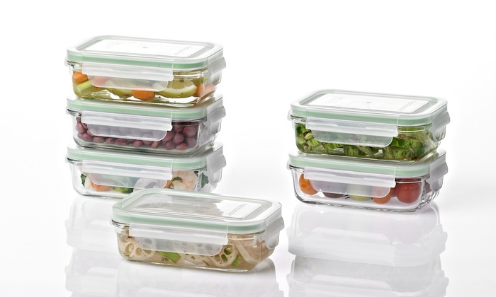 Glasslock Food Storage Container Sets Mesmerizing Food Storage Set 60Piece Groupon Goods