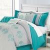 8-Piece Harq Emrboidered Comforter Set