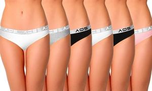 AQS Women's Cotton Bikinis (6-Pack)