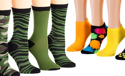 6-Pack of Tipi Toe Women's No-Show or Crew Socks from $14.99–$19.99