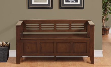 Simpli Home Adams Collection Entryway Storage Bench