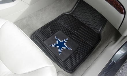 NFL Heavy-Duty Vinyl Car Mats (2-Pack)