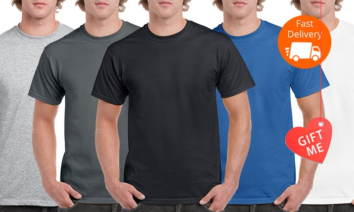 Superior Activewear: Gildan Heavy Cotton Classic Fit T-Shirts - Five-Pack (From $16) or 10-Pack (From $29)