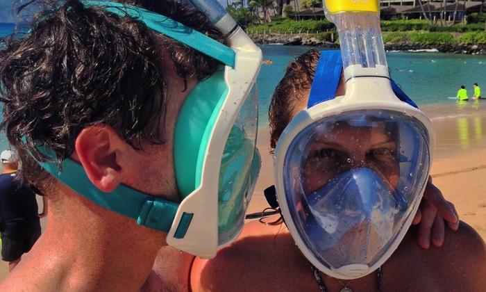 Shoreline Snorkel - Full Face Mask Snorkel: One-Week Snorkeling-Gear Rental for One or Two at Shoreline Snorkel (40% Off)