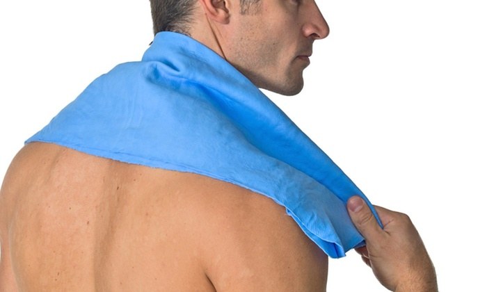 RealXGear Xtreme Cooling Towel: Small or Large RealXGear Xtreme Cooling Towel in Blue, Pink, or White (Up to 73% Off)