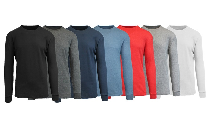 Men's Waffle-Knit Thermal Shirts (4-Pack)