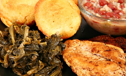 Southern Food for Two at Nellie's Soulfood Restaurant & Bar (38% Off)
