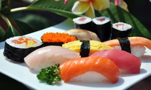 Sushi Meal For Two With A Nigiri Combo Or Two Special Rolls And House Sake  At Taki Sushi (up To 49% Off)