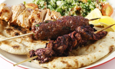 Mediterranean Food at Habibi Cafe Pomona (Up to 50% Off). Three Options Available.