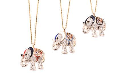 Crystal Elephant Pendant