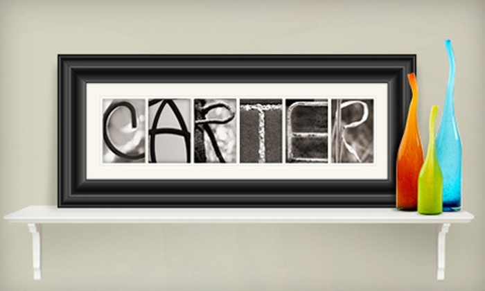 Great Big Canvas: 4- to 7-Letter or 8- to 10-Letter Custom Alphabet Photo Art from Great Big Canvas (Up to 58% Off)