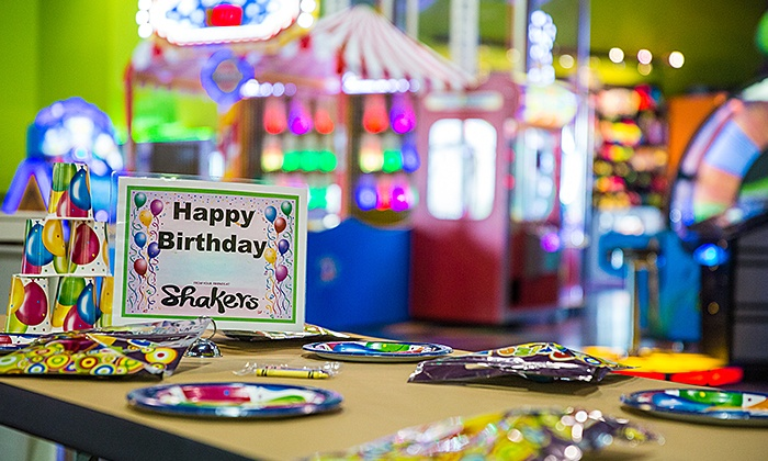 Shakers Fun Centre - Calgary: C$110 for an Indoor Unlimited Party for Up to Eight at Shakers Fun Centre (C$220 Value)