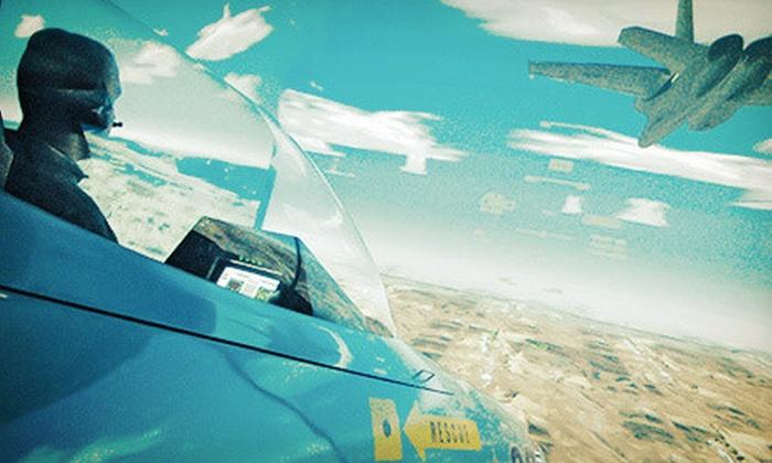 Flightdeck Simulation Center - Anaheim: $34a Fox-1 Combat Mission in a Fighter-Jet Simulator at Flightdeck Air Combat Center ($59 Value)