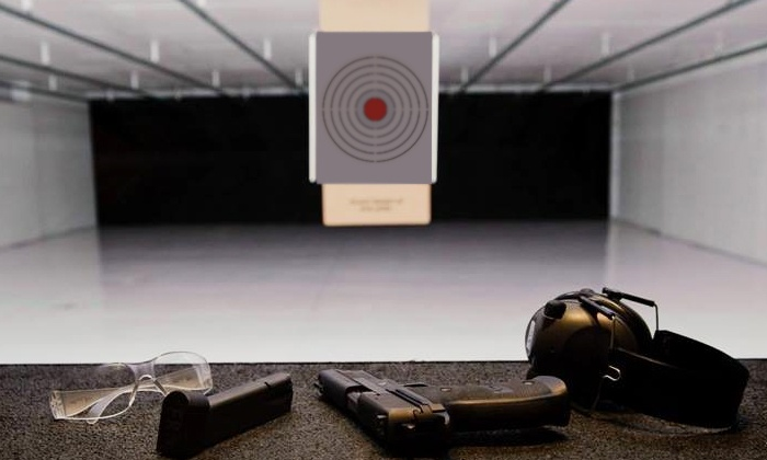 BluCore Shooting Center - Lakewood: Shooting-Range Packages with Optional Firearm Rental and Ammo for Two at BluCore Shooting Center (Up to 49% Off)