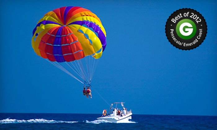 Destin Parasailing - Destin Harbor: $35 for One Seat in a Tandem Parasailing Adventure at Destin Parasailing (Up to $85 Value)