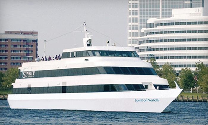 "Spirit of Norfolk - Downtown Norfolk: Dinner Cruise Aboard ""Spirit of Norfolk"" Sunday–Thursday or Friday (Up to 45% Off)"