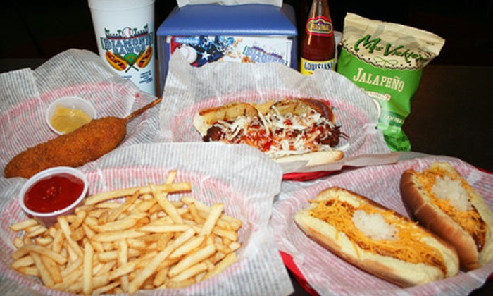 Diamond Dawgs - Larsh / Miller: $5 for $10 Worth of Hot Dogs, Wings, and More at Diamond Dawgs