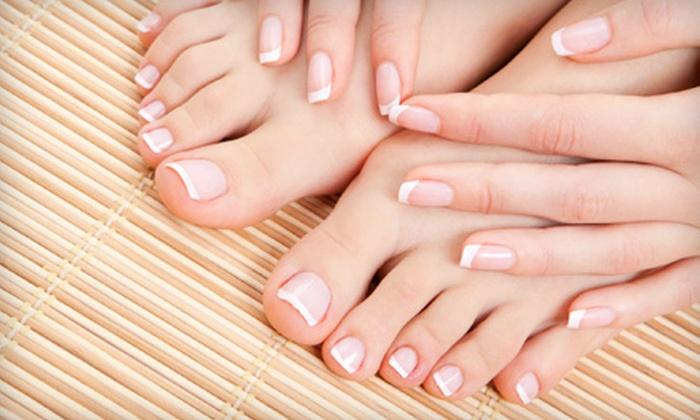 Shampoo Salon - Shrewsbury: Mani-Pedi with Optional Shellac Manicure Upgrade at Shampoo Salon (Up to 55% Off)