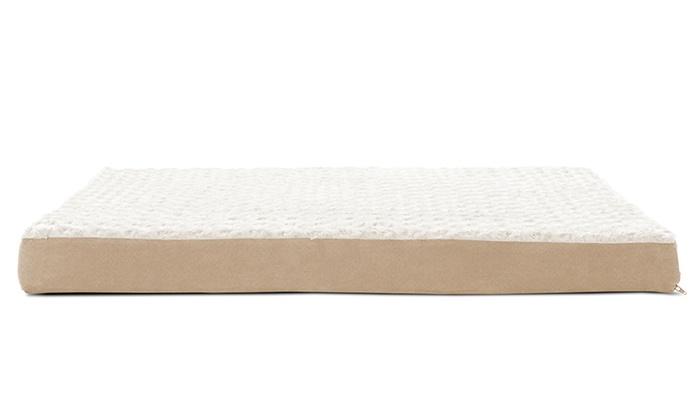 cooling gel-top memory foam pet bed | groupon