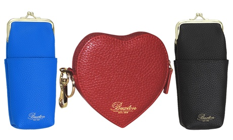 Pebble-Grain Eyeglass Case or Heart-Shaped Coin Purse (Goods Women's Fashion Accessories Wallets) photo
