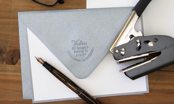 custom hand embosser 1 or 2pk 2712 designs groupon