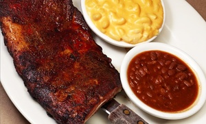Bobby Q's Bodacious BBQ & Grill: Barbecue Dinner and Drinks for Two, Four, or Take-Out at Bobby Q's (Up to 47% Off)