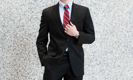 Custom Men's Clothing at Luxury Plus (Up to 80% Off). Six Options Available.